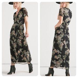 Lucky Brand Floral Maxi Wrap Dress